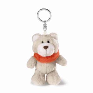 מחזיק מפתחות ניקי NICI דובי חורף עם צעיף אדום