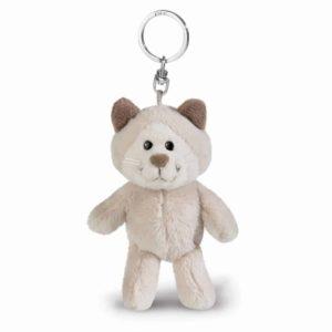 בובת מחזיק מפתחות ניקי NICI חתול שלג אפור