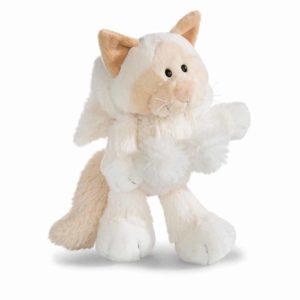 """בובת חתול שלג לבן פרוותי (20 – 35 ס""""מ) ניקי NICI"""