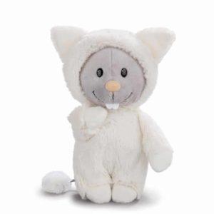 """בובת עכבר פרוותי מחופש לחתול (20 – 30 ס""""מ) ניקי NICI"""