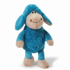 """בובת כבשה כחולה (כ-20 ס""""מ) NICI"""
